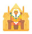 pharaoh sitting on throne cartoon design vector image
