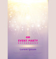 pink festive flyer or postertemplate with bokeh vector image