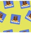 Cartoon chipmunk for fabrick vector image