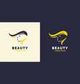 hair repair and bright logo for the barber shop vector image