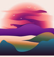 abstract image of a sunset or dawn sun over the vector image vector image