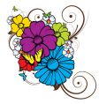 abstract image there are flowers butterflies vector image vector image