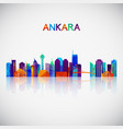 ankara skyline silhouette in colorful geometric vector image