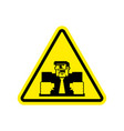 attention angry boss chief to yellow triangle vector image vector image