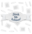 Back to School Sale realistic Badge with Text vector image