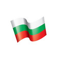 bulgaria flag vector image