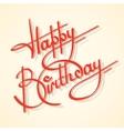 calligraphy happy birthday vector image vector image