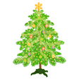 Christmas decoration tree with baubles vector image