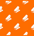 clothespin pattern orange vector image vector image