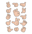 collection of gestures vector image vector image