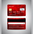 credit cards set with red abstract background