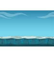 Deep blue sky over still ocean background vector image vector image