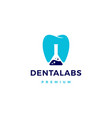 dental labs logo icon in negative space style vector image vector image