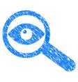 examine eye grunge icon vector image