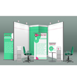 Exhibition Stand Concept vector image vector image