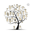 Family tree relatives people sketch