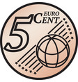 five euro cent coin vector image