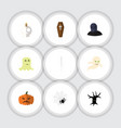 flat icon halloween set of casket spinner vector image vector image