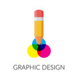 graphic design flat icon creative abstract design vector image vector image