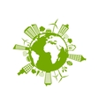 Green Futuristic World vector image
