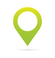 green map pointer icon marker GPS location flag vector image vector image