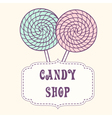Hand drawn lollipop with label vector image vector image