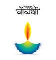happy diwali indian festival poster design vector image