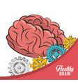 healthy brain concept icon ilustration vector image vector image