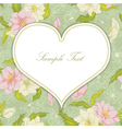 heart with floral background vector image vector image
