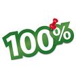 Hundred percent sticker vector image