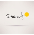 Icon of sale seasonal Summer Isolated vector image