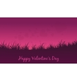 Landscape of fields valentine theme vector image vector image
