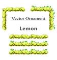 LemonOrnament vector image vector image