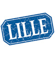 Lille blue square grunge retro style sign vector image vector image