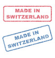 made in switzerland textile stamps vector image vector image