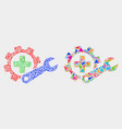 medical settings mosaic icon triangle vector image vector image