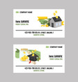 money piggy bank business card pig box vector image vector image