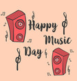 music day card style art collection vector image vector image