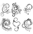 ornamental design elements - vector image