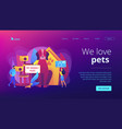 pet friendly place concept landing page vector image vector image