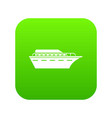 powerboat icon digital green vector image vector image