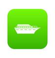powerboat icon digital green vector image