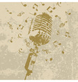 retro a microphone on a grey background a vector i vector image vector image