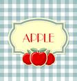 Retro apple label vector image vector image
