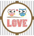Romantic card2 vector image