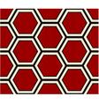seamless hexagonal pattern vector image vector image