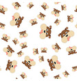 seamless pattern of dogs head vector image