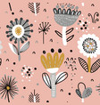 seamless pattern with fancy flowers vector image vector image