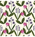 Seamless spring plants pattern vector image vector image