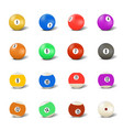 set of balls for playing pool vector image vector image